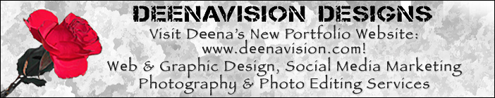 Deenavision Designs:  Deena's New Portfolio Website